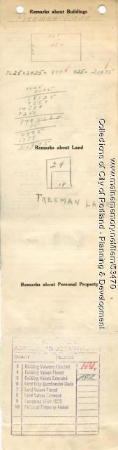18 Freeman Street (called #8), Portland, 1924