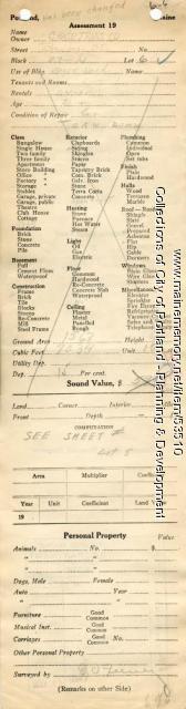 Assessor's Record, Shed, Bradbury Court, Portland, 1924