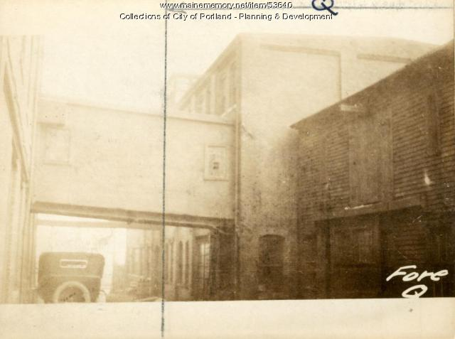 153 Fore Street (rear), Portland, 1924