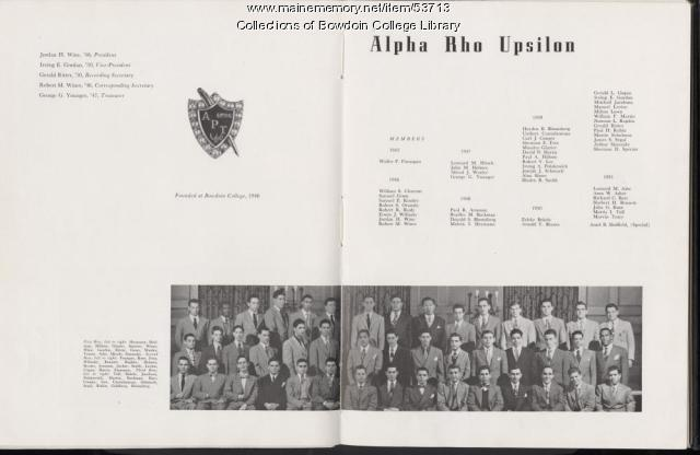 Alpha Rho Upsilon, Bowdoin College, 1948