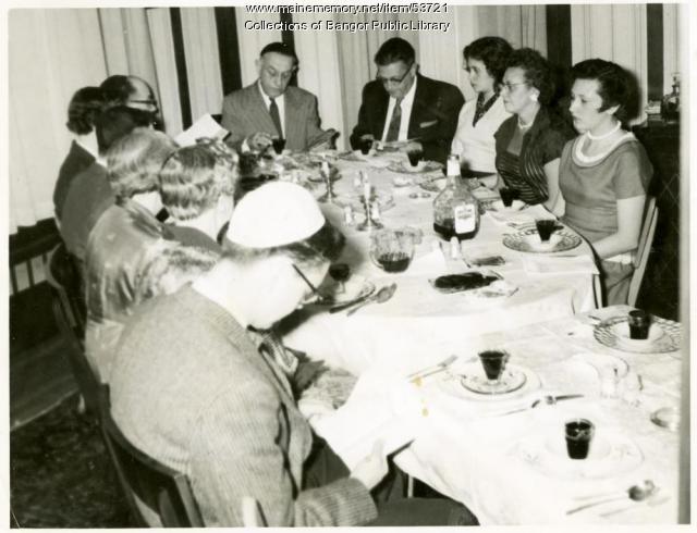 Family Passover Seder, Bangor, ca. 1957