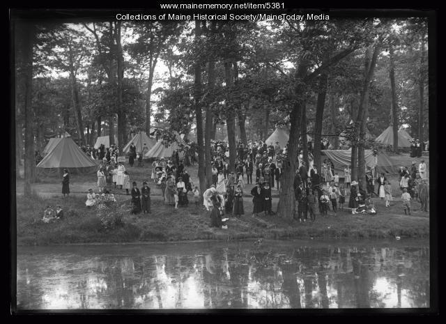 Wabanaki encampment at Deering Oaks Park during Centennial, Portland, 1920