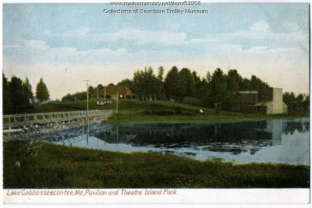 Island Park on Lake Cobbosseecontee, Manchester, 1907