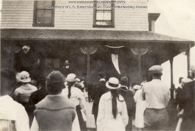 Service Flag unfurling at Golden Rule Cottage, Fairfield, 1918