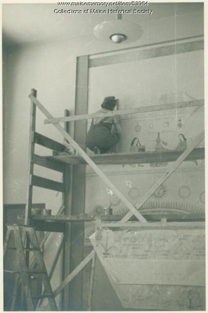 Burrage Bryn Mawr mural, ca. 1940