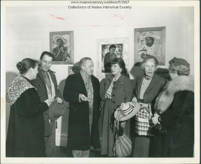 Maine artists, Wiscasset, 1958