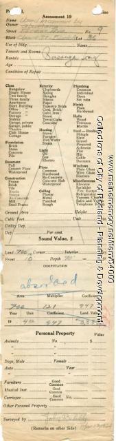 Assessor's Record, 9 Forest Avenue, Portland, 1924