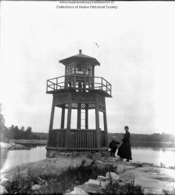 Turtle Rock Light, Lake Cobbosseecontee, 1911