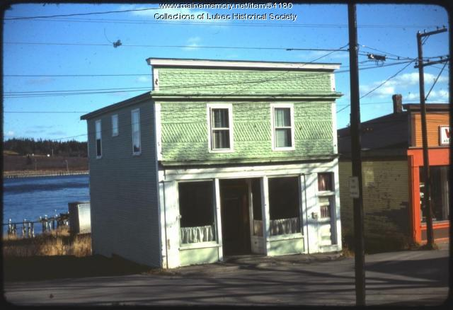 Trecartin Tin Shop building, Lubec, 1975