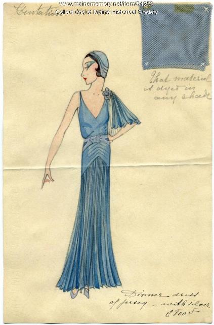'Centation' fashion drawing, Paris, 1931