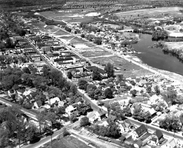 Aerial view of Millinocket, 1948
