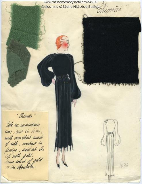 'Chimere' dress illustration, Paris, 1936