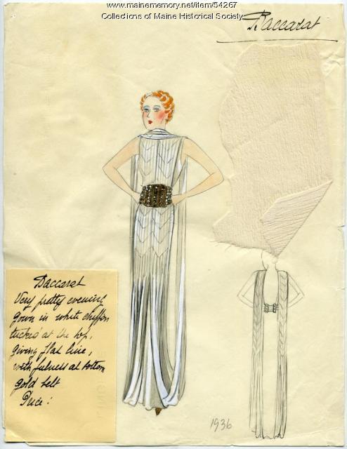 'Baccarat' dress design, Paris, 1936