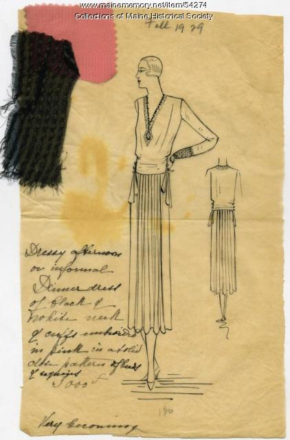 Fall fashion, Paris, 1929