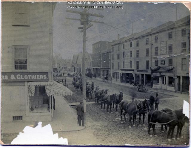 Hallowell Granite Works, Water Street, Hallowell, 1900