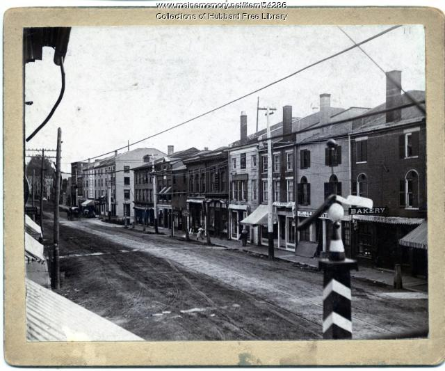 Water Street, Hallowell, ca. 1900