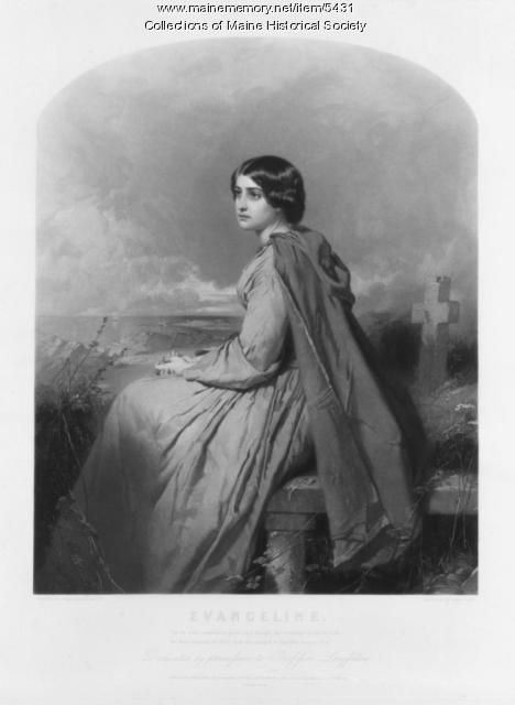 Engraving of Evangeline, by James Faed, ca. 1854