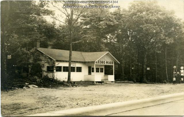 The Ledge Wood, US Route One, Biddeford, circa 1930