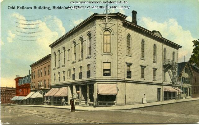 Odd Fellows Building, Biddeford, 1915