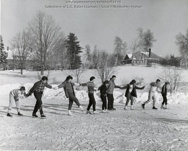 Ice skating, Fairfield, ca. 1955
