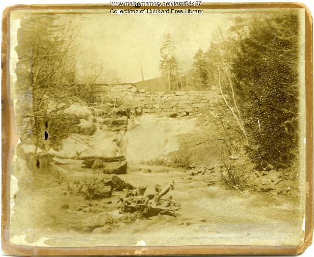 Wire Mill Dam, Vaughan Woods, Hallowell, ca. 1870