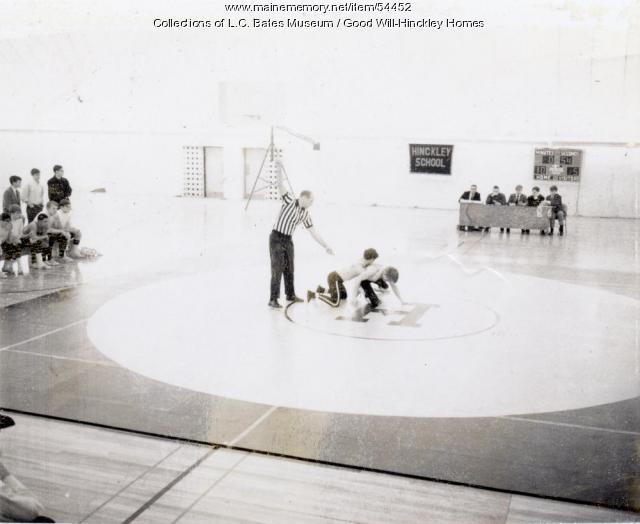 Wrestling at Good Will, Fairfield, ca. 1960