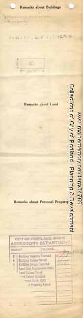 Assessor's Record, 142-144 Forest Avenue, Portland, 1924