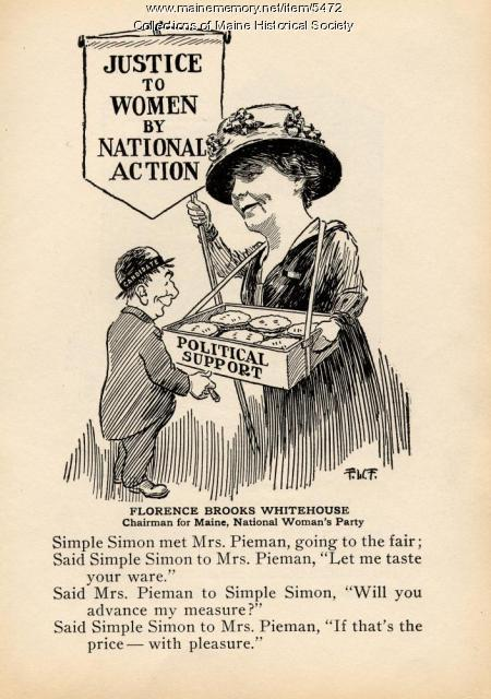 Pro woman suffrage political cartoon, 1918