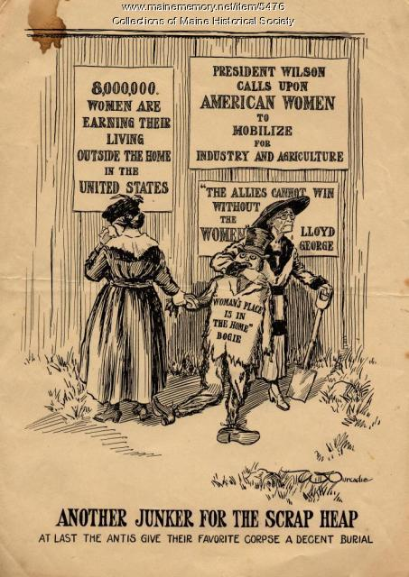 Suffrage cartoon, ca. 1915