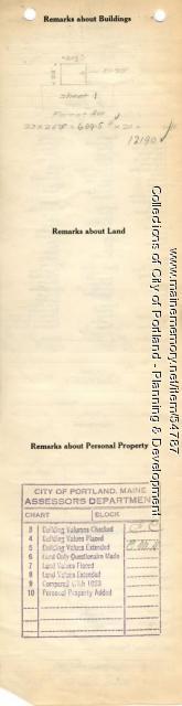 Assessor's Record, 219 Forest Avenue, Portland, 1924