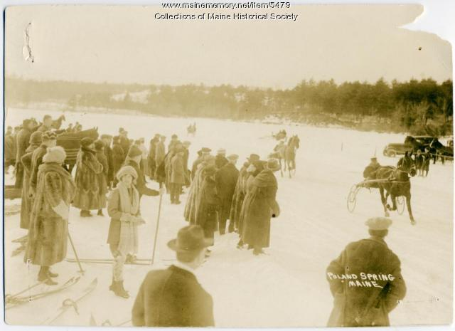 Winter harness racing, Poland Spring, ca. 1900s