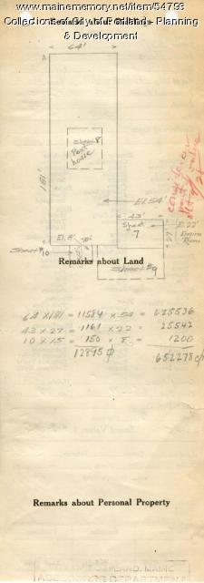 Assessor's Record, 235-311 Forest Avenue, Portland, 1924