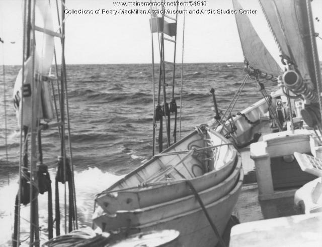 The schooner 'Bowdoin' at sea, 1934
