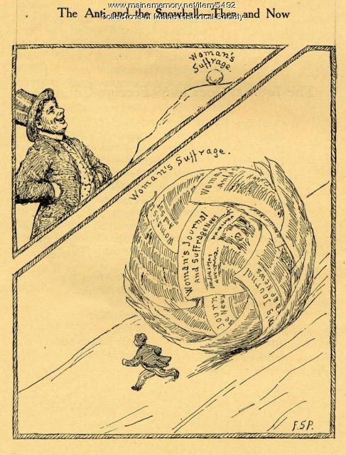Woman suffrage political cartoon, 1916