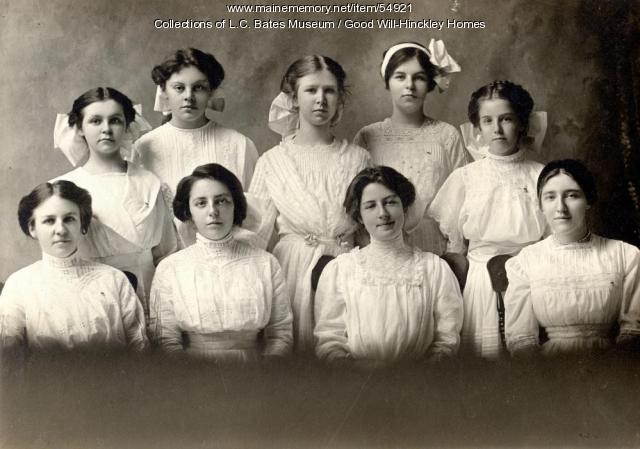 Good Will girls Class of 1912, Fairfield, 1912