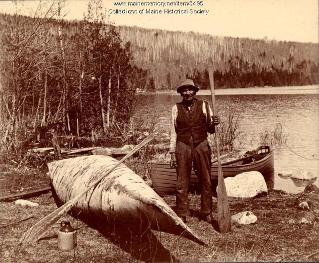 Athian Lewey, West Grand Lake, 1898