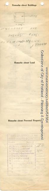 Assessor's Record, 293 Forest Avenue, Portland, 1924