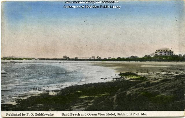 Sand Beach And Ocean View Motel Biddeford Pool Ca 1920 Maine Memory Network