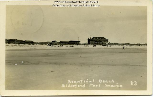 Ocean View Hotel And Biddeford Pool Beach Ca 1920 Maine Memory Network