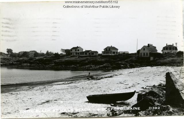 White beach at Hills Beach, Biddeford, ca. 1915