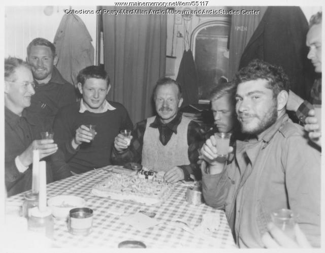 Birthday celebration aboard 'Bowdoin,' 1947