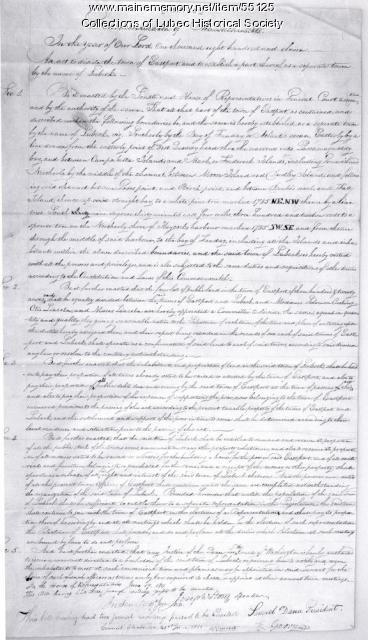 Charter, Lubec, June 19 1811