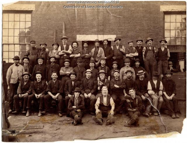 Foundry employees, Portland Company, August 1887