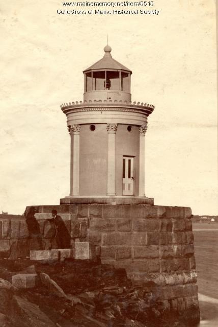 Lighthouse, Portland breakwater, 1875
