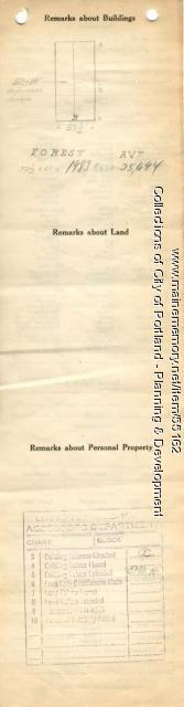 Assessor's Record, 509 Forest Avenue, Portland, 1924