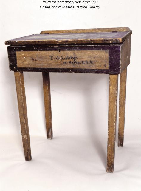 T.J. Libby 12th Maine Regiment desk