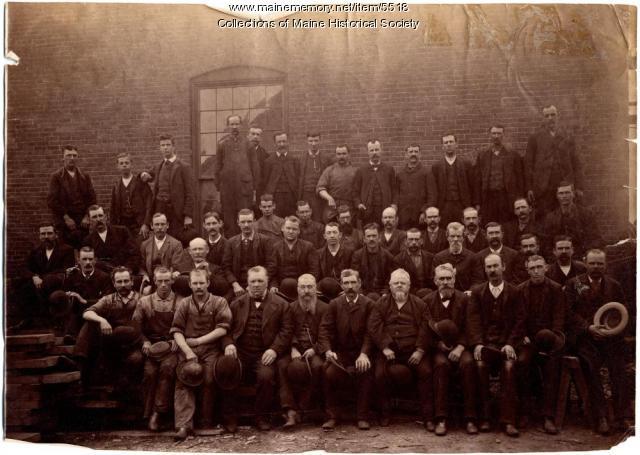 Machine Shop employees of the Portland Company, 1887