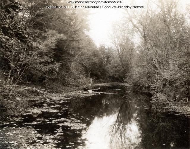 Canoe on Martin Stream, Fairfield, ca. 1950
