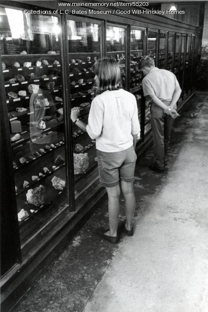 L.C. Bates Museum Mineral Collection, Fairfield, ca. 1955