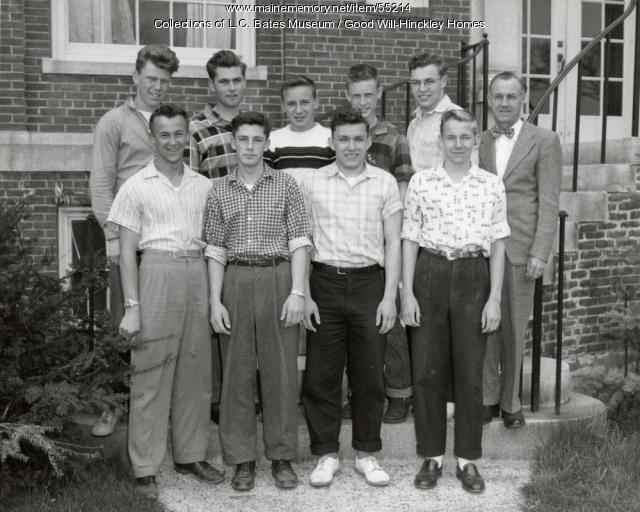 Averill High School boys Class of 1958, Fairfield, 1958